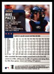 2000 Topps #300  Mike Piazza  Back Thumbnail