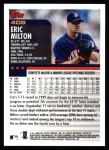 2000 Topps #408  Eric Milton  Back Thumbnail
