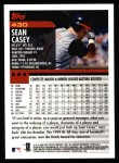 2000 Topps #430  Sean Casey  Back Thumbnail
