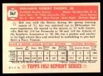 1952 Topps REPRINT #367  Ben Thorpe  Back Thumbnail