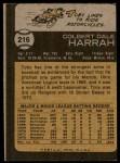 1973 Topps #216  Toby Harrah  Back Thumbnail