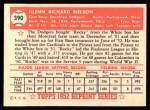 1952 Topps REPRINT #390  Rocky Nelson  Back Thumbnail