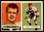 1957 Topps #114  Don Paul  Front Thumbnail