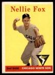1958 Topps #400  Nellie Fox  Front Thumbnail