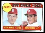1969 Topps #136   -  Mike Torrez / Steve Huntz Cardinals Rookies Front Thumbnail