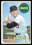1969 Topps #293  Dick Dietz  Front Thumbnail