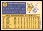 1970 Topps #253  Ron Woods  Back Thumbnail