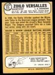 1968 Topps #315  Zoilo Versalles  Back Thumbnail