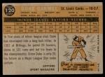 1960 Topps #120   -  Duke Carmel Rookie Star Back Thumbnail