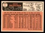 1966 Topps #272  Jack Baldschun  Back Thumbnail
