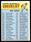 1966 Topps #183 LRG  Checklist 3 Front Thumbnail