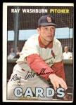1967 Topps #92  Ray Washburn  Front Thumbnail