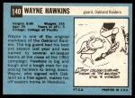 1964 Topps #140  Wayne Hawkins  Back Thumbnail