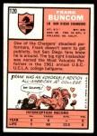1966 Topps #120  Frank Buncom  Back Thumbnail