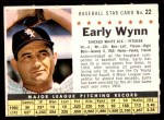 1961 Post #22 COM Early Wynn   Front Thumbnail