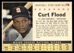 1961 Post #178 COM Curt Flood   Front Thumbnail