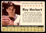 1961 Post #87 COM Ray Herbert   Front Thumbnail