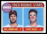 1969 Topps #224   -  Bill Harrelson / Steve Kealey Angels Rookies Front Thumbnail