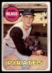 1969 Topps #104  Steve Blass  Front Thumbnail