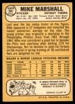 1968 Topps #201  Mike Marshall  Back Thumbnail