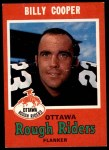 1971 O-Pee-Chee CFL #78  Billy Cooper  Front Thumbnail