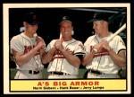 1961 Topps #119   -  Norm Siebern / Hank Bauer / Jerry Lumpe A's Big Armor Front Thumbnail