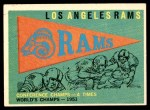 1959 Topps #126   Rams Pennant Front Thumbnail