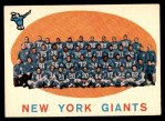1959 Topps #133   Giants Team Checklist Front Thumbnail