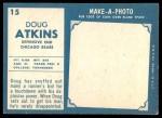 1961 Topps #15  Doug Atkins  Back Thumbnail