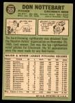 1967 Topps #269  Don Nottebart  Back Thumbnail