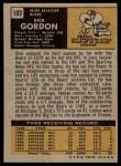 1971 Topps #103  Dick Gordon  Back Thumbnail