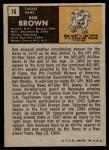 1971 Topps #16  Bob Brown  Back Thumbnail