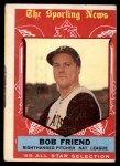 1959 Topps #569   -  Bob Friend All-Star Front Thumbnail