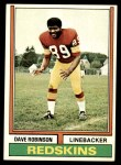 1974 Topps #313  Dave Robinson  Front Thumbnail