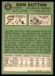 1967 Topps #445  Don Sutton  Back Thumbnail