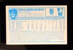 1974 Kellogg's #29  John Mayberry  Back Thumbnail