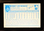 1974 Kellogg's #39  Bobby Bonds  Back Thumbnail