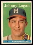1958 Topps #110  Johnny Logan  Front Thumbnail