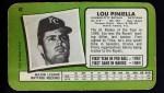 1971 Topps Super #62  Lou Piniella  Back Thumbnail