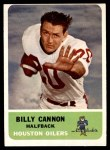 1962 Fleer #47  Billy Cannon  Front Thumbnail