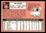 1969 Topps #482 WN Jim Gosger  Back Thumbnail