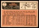 1966 Topps #331  Ron Herbel  Back Thumbnail