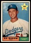 1961 Topps #147  Ed Rakow  Front Thumbnail