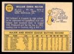 1970 Topps #518  Bill Melton  Back Thumbnail