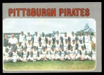 1970 Topps #608   Pirates Team Front Thumbnail