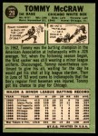 1967 Topps #29  Tom McCraw  Back Thumbnail