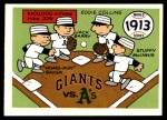 1970 Fleer World Series #10   1913 A's vs. Giants Front Thumbnail
