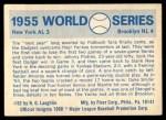 1970 Fleer World Series #52   -  Johnny Podres 1955 Dodgers vs. Yankees   Back Thumbnail