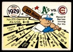1970 Fleer World Series #26   1929 A's vs. Cubs Front Thumbnail