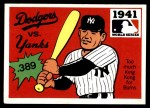 1971 Fleer World Series #39   1941 Yankees / Dodgers Front Thumbnail